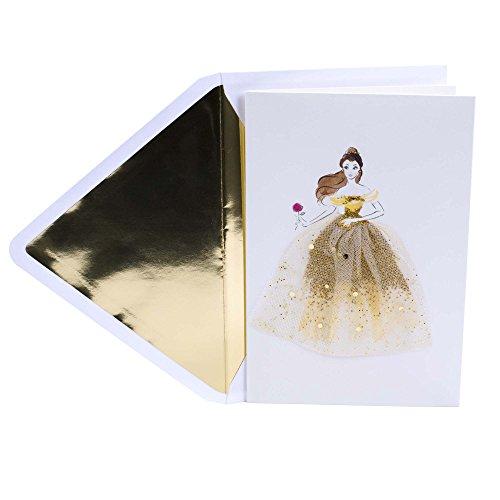 Hallmark Signature Birthday Card for Women (Disney Belle)