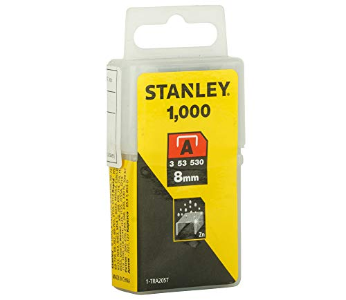 Stanley 1-TRA205T Grapas Tipo A (5/53/530), 8 mm-1000 u