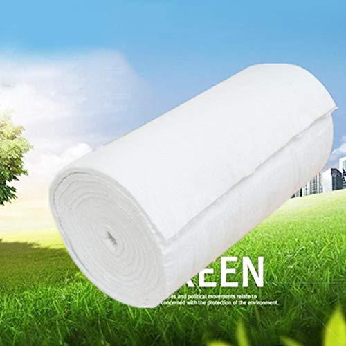 Manta de Fibra de cerámica, Aislante ignífugo, 4 tamaños, Blanco, 40 mm.