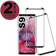 KUTUKU Galaxy S9 Panzerglas Schutzfolie, Hohe Qualität Gehärtetem Glass [2 Stück] [Case Friendly] [9H Härte] [Anti-Kratzer] [Anti-Fingerabdruck] [Blasenfrei] Panzerglasfolie für Samsung Galaxy S9
