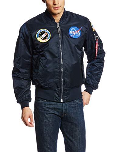 Alpha Industries MA-1 NASA Bomber Flight Jacket - Fighter Pilot Flight...