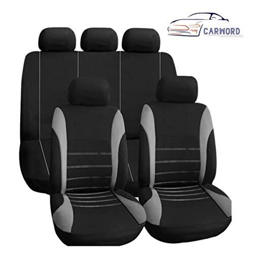 Fundas de asiento de coche, juego completo de fundas de asiento de coche de ajuste delantero y trasero con bolsa de aire compatibleAbsorbente, antideslizante, lavable, para coches, SUVS y camiones