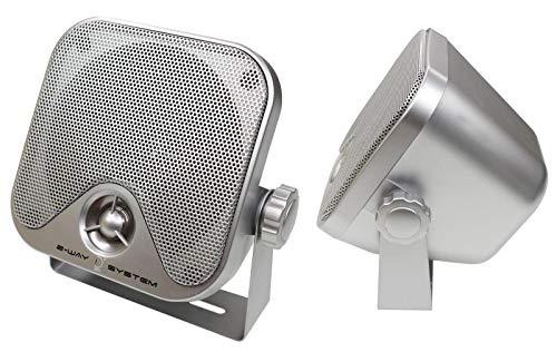 2-Wege Aufbaulautsprecher, 90 W, Silber/grau, 1 Paar