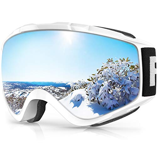 Ski Goggles, Findway 100% UV Protection Snow Goggles For Men, Women & Youth, OTG Design Helmet Compatible Scratch Resistant Anti-fog Double Glasses Snowboard Goggles