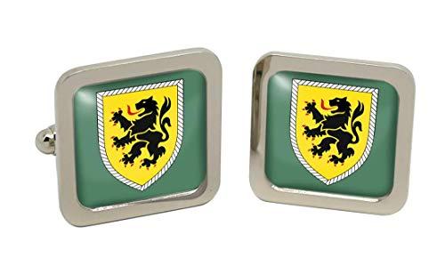 Gift Shop 10. Panzerdivision Bundeswehr (Deutsche Armee) Quadratisch Manschettenknöpfe in Box
