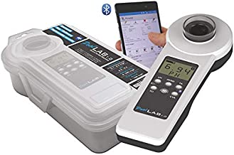 Digital Pool Water Test Kit, Easy to Use, Bluetooth, Powerful App, Portable Handheld Swimming Pool Water Quality Tester Pool Spa Water Quality Monitor Checker, Virtual Assistant.