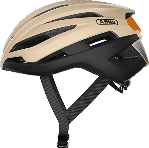 ABUS TrailPaver Mountainbike-Helm - Leichter Fahrradhelm für den Geländeeinsatz - für Damen und Herren - 88475 - Beige/Schwarz, Größe S