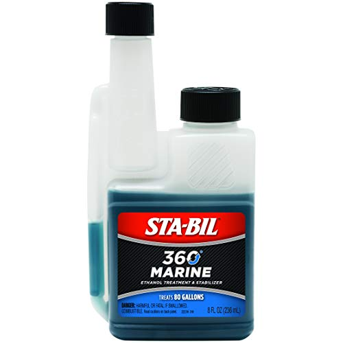 STA-BIL 360 Marine Ethanol Treatment and Fuel Stabilizer - Prevents Corrosion - Helps Clean Fuel System For Improved In-Season Performance - Treats Up To 80 Gallons, 8 fl. oz. (22239)