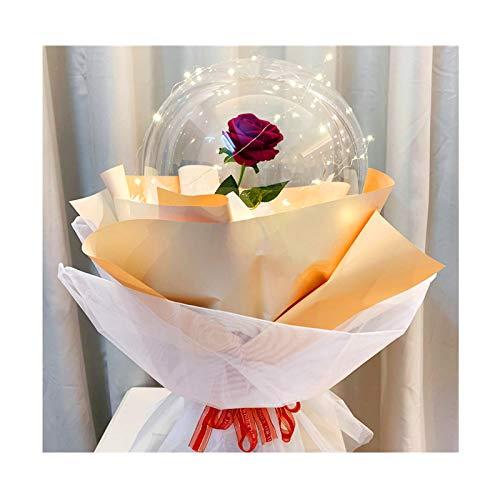 TWW Flor De Globo Flor Rosa del Principito Material De Bricolaje Confesión Romántica Regalo del Día De San Valentín Ramo De Globos Rosas,D