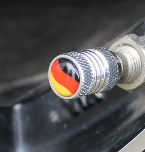 4x BRD Ventilkappen Deutschland Auto Motorrad Anhänger Ventil Kappen Fußball WM EM