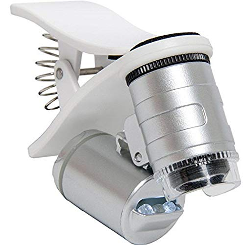 Hydrofarm Active Eye AEM60C Universal Phone 60x with clamp Microscope, White