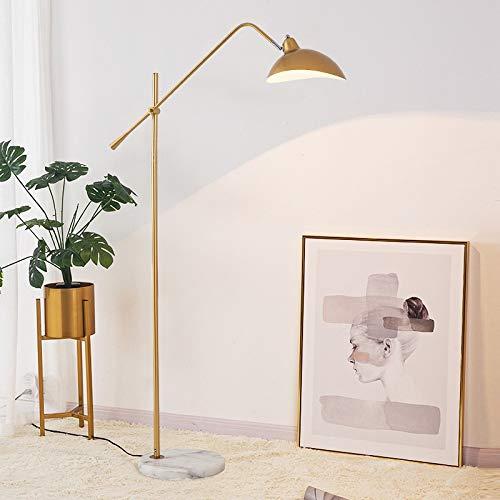 DSM Nordic Couchtisch Stehleuchte Wohnzimmer Schlafzimmer Nachttischlampe Licht Luxus Netz Rot Stehleuchte 167cm (Color : C, Size : Warm Light)