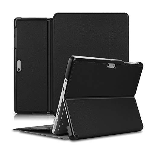 Olixar para Microsoft Surface Go 2 Folio Case - Flip Folio Kickstand PU Funda de cuero - Negro