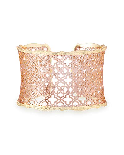 Kendra Scott Candice Cuff Bracelet for Women in Mixed Metal Filigree, Fashion Jewelry, 14k Gold-Plated and 14K Rose Gold-Plated