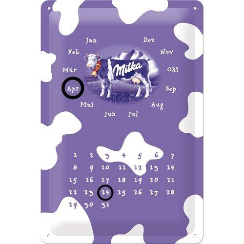 Nostalgic-Art Escudo Calendario Milka