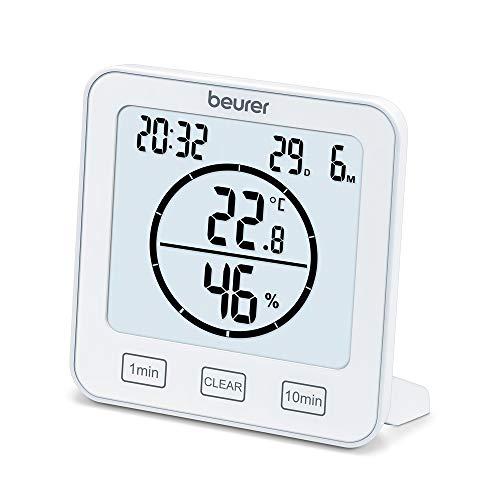 Beurer HM 22 Thermo-Hygrometer, Raumklimakontrolle, Messung von Temperatur und relativer Luftfeuchtigkeit, mit Timer und Signalton