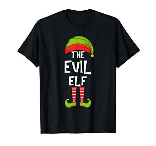 Malvada fiesta familiar de Navidad de los elfos Regalo de gr Camiseta