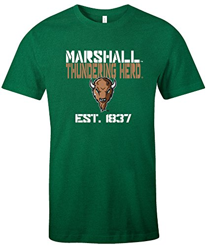 NCAA Marshall Thundering Herd Est Stack Jersey Short Sleeve T-Shirt, Kelly,X-Large
