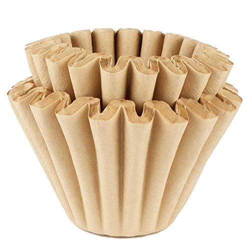 Universal-Korbfiltertüten 50 STK   1-4 Tassen 50mm Papierfilter Korbfilter Kaffeefilter   Einweg Kaffeefilterpapier Ersatz des Kaffeefilters aus Holzfasern