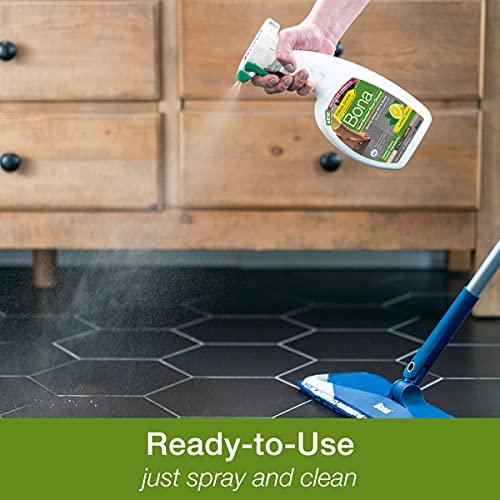 Bona Lemon Mint Scent Hard-Surface Floor Cleaner, for Stone Tile Laminate and Vinyl, Spray, 32 Fl Oz