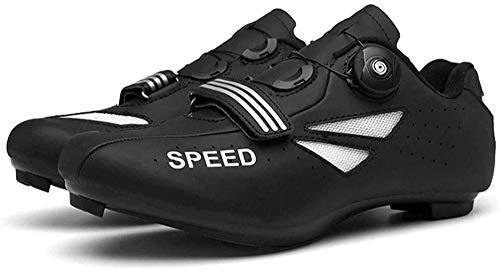 KUXUAN Calzado de Ciclismo Unisex - Calzado Deportivo de Ocupación Al Aire Libre Calzado de Ciclismo Informal Adecuado para Deportes Al Aire Libre,Black-EU44