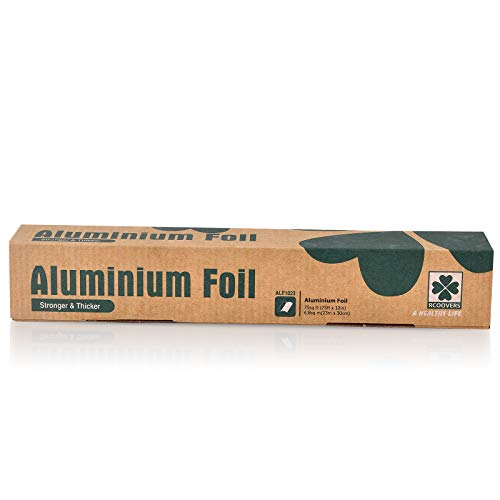 Aluminum Foil Roll Food Grade (75ft X 12IN) Nonstick Heavy Duty Aluminum Foil Fit for Cooking Grilling freezing wrapping and storing Home Baking Roll 75 Square Feet 0.15mil Thickness