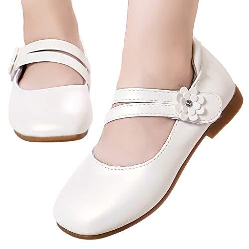 riou Zapatos Planos para NiñAs, Sin Cordones, para Escuela, Fiesta, Bailarina NiñA Linda Punta Redonda Brillante Vestir Verano Sandalias Transpirables