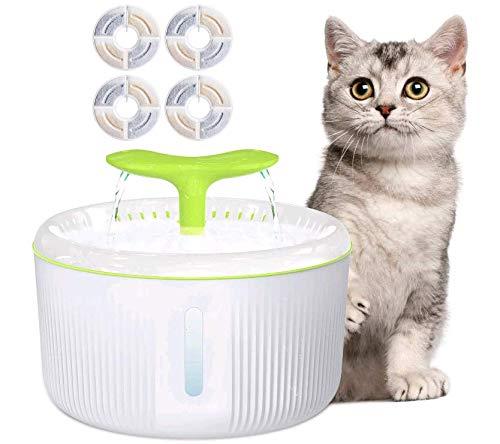 LAJIOJIO 4 Stück Katze Katzenbrunnen Trinkbrunnen Filter Aktiv Kohlefilter Brunnen Filter für Katzen Hunde Haustier Für gesundes Trinkwasser für Katzen, Hunde und Haustiere