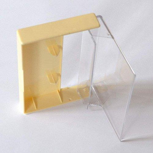 Musik-Cassettenhüllen, MC-Kassetten-Archiv Hüllen, transparent-elfenbein (10 Stück)