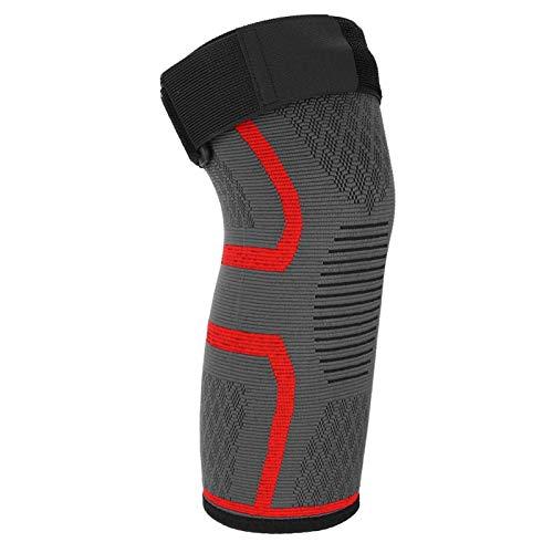 DAUERHAFT Weben von Guten elastischen Kniebandagen Nylonmaterial für Bergsteigen(red, S)