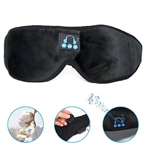 Preisvergleich Produktbild HUO FEI NIAO Schlafaugenmaske,  Bluetooth 5.0 drahtlose Musikkopfhörer,  Reisen Yoga,  hautfreundliche Materialien,  die Geräusche verringern kann gewaschen Werden,  Unisex (Farbe : Schwarz)