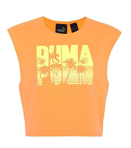 PUMA Details About x Rihanna Fenty Damen-Oberteil, ärmellos, bauchfrei, Orange Gr. XS, Orange (04)