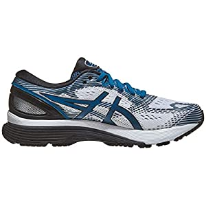 ASICS Men's Gel-Nimbus 21 Running Shoes, 12M, White/DEEP Sapphire