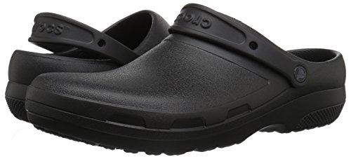 Crocs Unisex Men's and Women's Specialist II Clog | Work Shoes, Black, 12 US