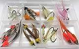 BestCity Fliegenfischen Salzwasser Fliegenauswahl 24 Stück