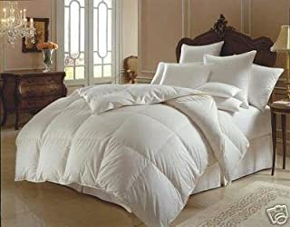 Egyptian Bedding 800 Thread Count California King Siberian Goose Down Comforter 800TC 700FP, White 800 TC