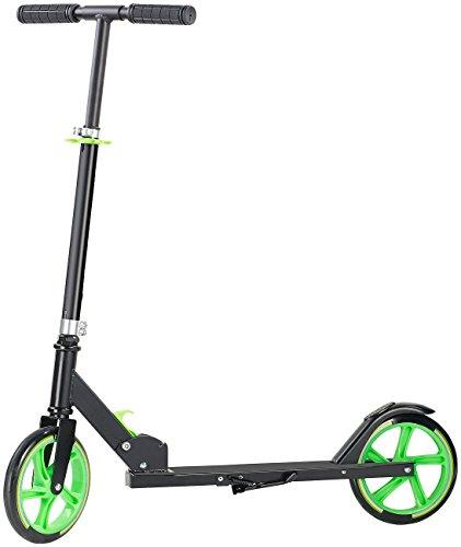 PEARL Ständer für Cityroller: Klappbarer City-Roller, XXL-Räder, Ständer, Trageriemen, bis 100 kg (Ständer für Tretroller)
