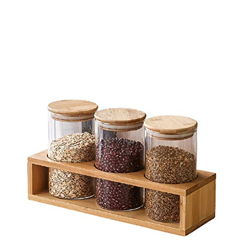 hsy Contenitori di stoccaggio,Vasetto per Conserve a Bocca Larga Barattolo di marmellata di mostarde Contenitori per Alimenti in contenitori di Cereali Barattolo di Miele Chutney Sweet Jar Kitchen
