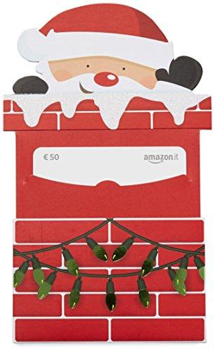 Buono Regalo Amazon.it - € 50 (Busta babbo Natale caminetto)