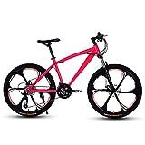 D&XQX Erwachsene 24 Zoll Mountainbike, Strand Snowmobile Fahrrad, Doppelscheibenbremse Fahrräder, Alufelgen, einen Mann eine Frau General Purpose,21 Speed