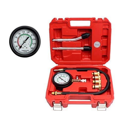 CCLIFE Set de Prueba de Compresión de Cilindro Motor, 0 - 20 bar 0 - 300 psi