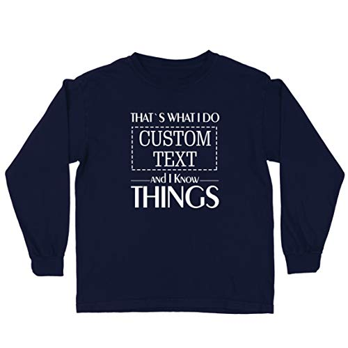 lepni.me Camiseta para Niño/Niña Costumbre Eso es lo Que Hago Personalizada y sé Cosas (5-6 Years Azul Multicolor)