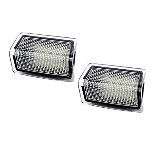 GOFORJUMP Lumière de Bienvenue de Porte de Voiture pour Mercedes W204 W176 W246 W212 4D / 5D W166 B/ENZ E Accessoires Blanc SMD3528 LED Lampe de courtoisie 12V
