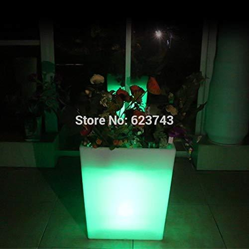 Outdoor große wasserdichte wiederaufladbare Fernbedienung Licht Blumentopf Farbwechsel Blumentopf