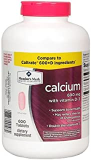 Member's Mark Calcium 600mg with vitamin D-3 600Tablets