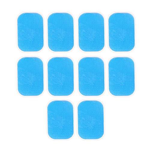 F Fityle 10x Hoja de Gel de Repuesto, Gel Pad Almohadillas Hidrogel de Repuesto para Electroestimulador Muscular Reemplazo Gel