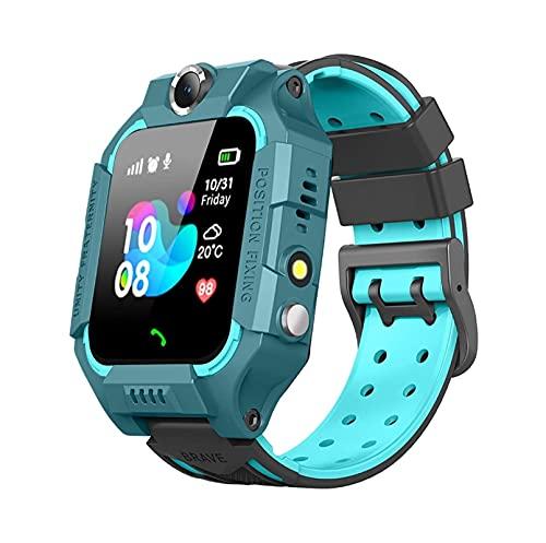 2021 Relojes inteligentes para niños con GPS Tracker SOS Call Call Reloj Camera Pantalla táctil Sport Intelligent SmartWatch HD Spy Safety Web Teléfono, adecuado para 3 años de edad ( Color : Blue )