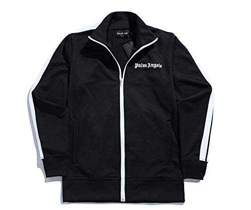 Fashion Palm Angel Letter Printed Zipper Casual Sports Jacket Loose Sportswear for Men/Women Black