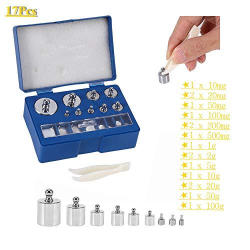 Conjunto de peso de calibración de precisión de 17 piezas