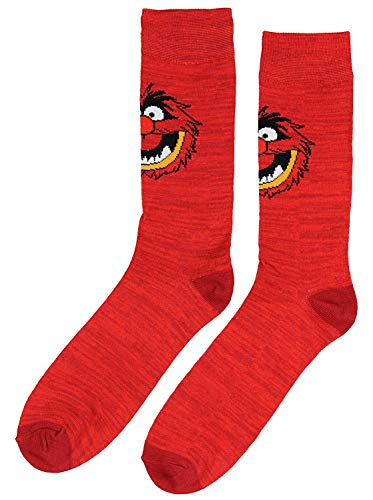 The Muppets Animal Mens Red Character Crew Socks